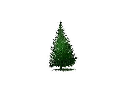 Greetings Tree10 Color Christmas