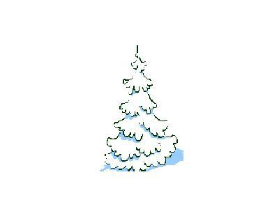 Greetings Tree11 Color Christmas