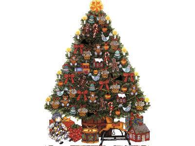 Greetings Tree19 Color Christmas