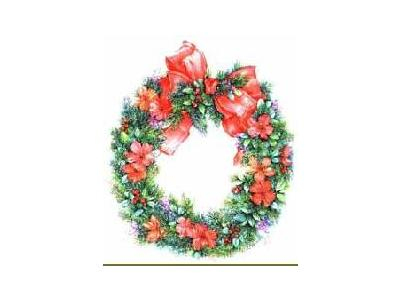 Greetings Wreath08 Color Christmas