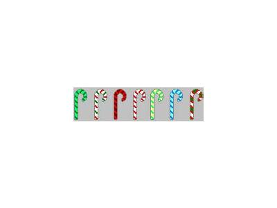Greetings Candy Cane16 Color Christmas