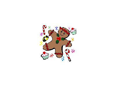 Greetings Gingerbread01 Color Christmas