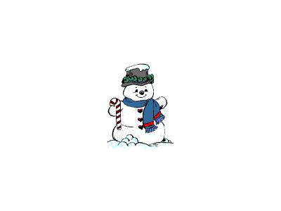 Greetings Snowman08 Color Christmas