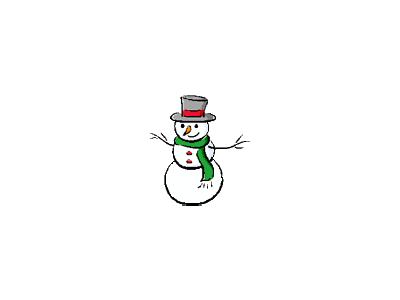 Greetings Snowman13 Color Christmas