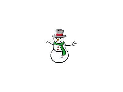 Greetings Snowman13 Color Christmas