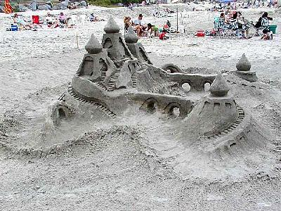 Photo Sand Castle Building