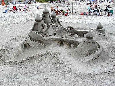 Photo Sand Castle Building