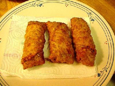 Photo Chicken Eggrolls Food