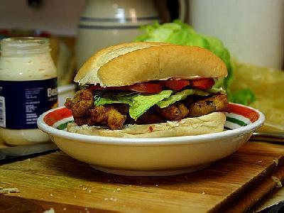 Photo Poboy Sandwich Food