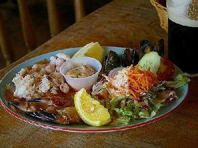 Photo Seafood Plate Food