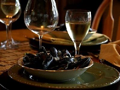 Photo Steamed Muscles Food