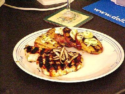 Photo Swordfish With Grilled Leeks Food