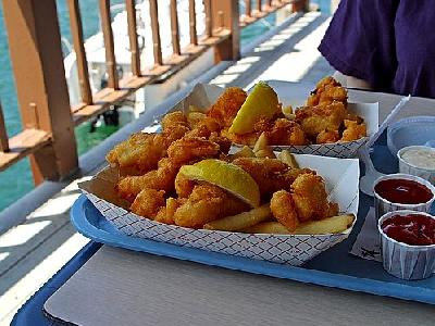 Photo Fried Fish And French Fries Food