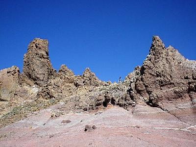 Photo Volcanic Rocks Landscape