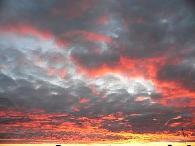 Photo Red Clouds Landscape