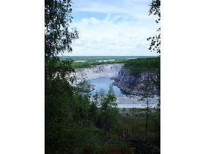 Photo Limestone Quarry Landscape