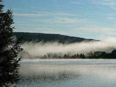 Photo Morning Mist Over Lake Landscape