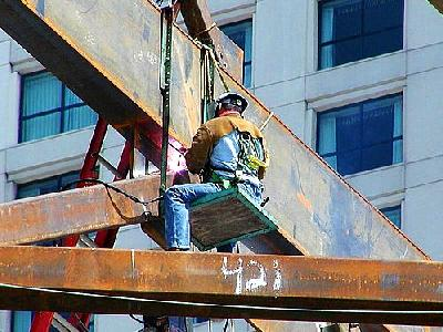 Photo Highrise Welder People
