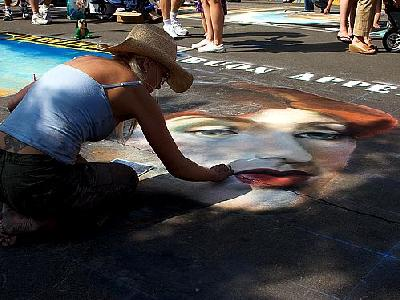 Photo Street Painting People