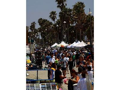 Photo Venice Beach Crowds Travel