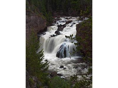 Photo Firehole Falls At Dusk Travel