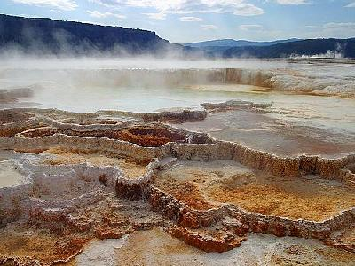 Photo Mammoth Hot Springs Travel