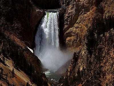 Photo Yellowstone Lower Falls Travel