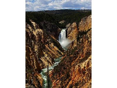 Photo Yellowstone Park Lower Falls Travel