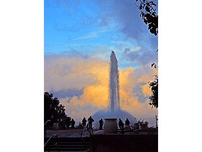 Photo Fountaine At Dusk Travel