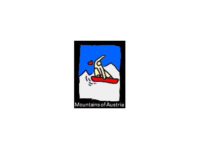Logo Sports Skiing 006 Animated