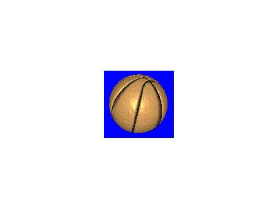 Logo Sports Basketball 008 Animated