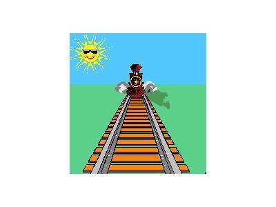 Logo Vehicles Trains 021 Animated