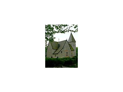 Photo Small Medieval Country Church Building