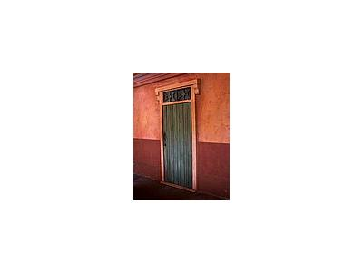Photo Small Wooden Doorway Building