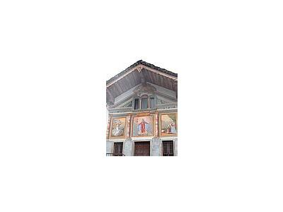 Photo Small Church Gable Paintings Building