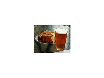 Photo Small Bread And Beer Drink