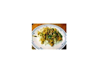 Photo Small Chicken Stir Fry Food