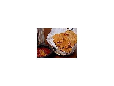 Photo Small Chips And Salsa Food