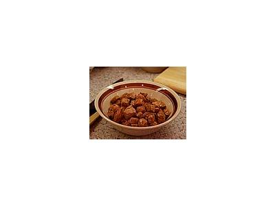 Photo Small Cooked Stew Meat Food