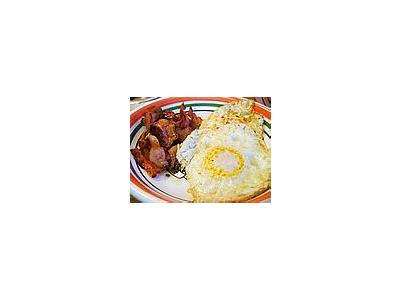 Photo Small Eggs Bacon Food