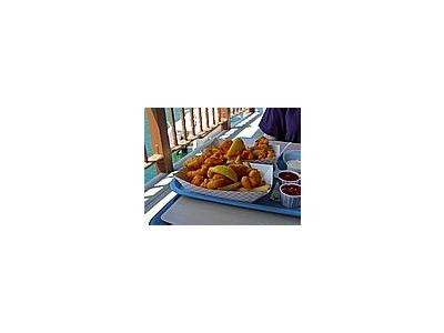 Photo Small Fried Fish And French Fries Food