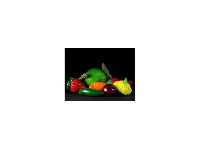 Photo Small Fruits And Vegetables Food