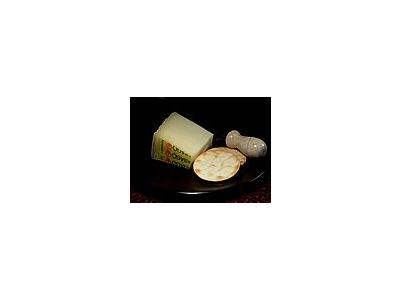 Photo Small Asiago Pressato Cheese Food