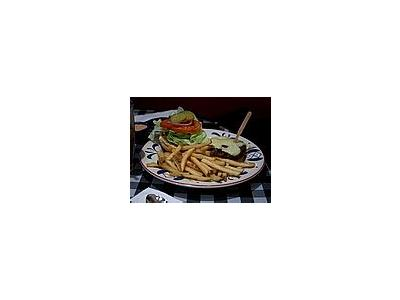 Photo Small Burger And Fries Food