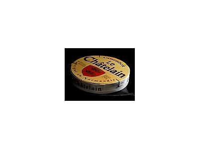 Photo Small Camembert Cheese Box Food