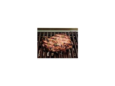 Photo Small Marinated Steak Food