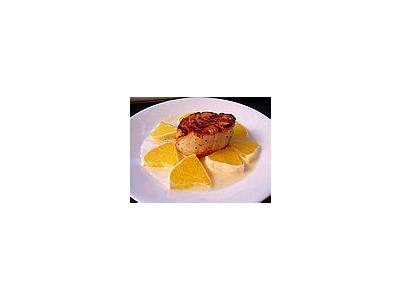Photo Small Meat Orange Plate Food