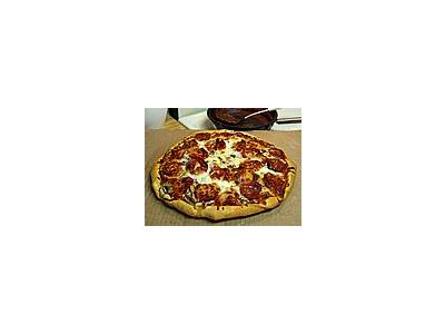 Photo Small Pizza Pepperoni Food