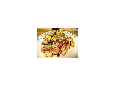 Photo Small Prawn Salad Food