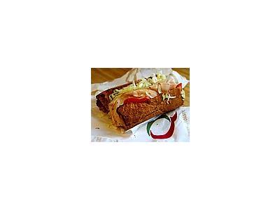 Photo Small Quiznos Sub Sandwich Food